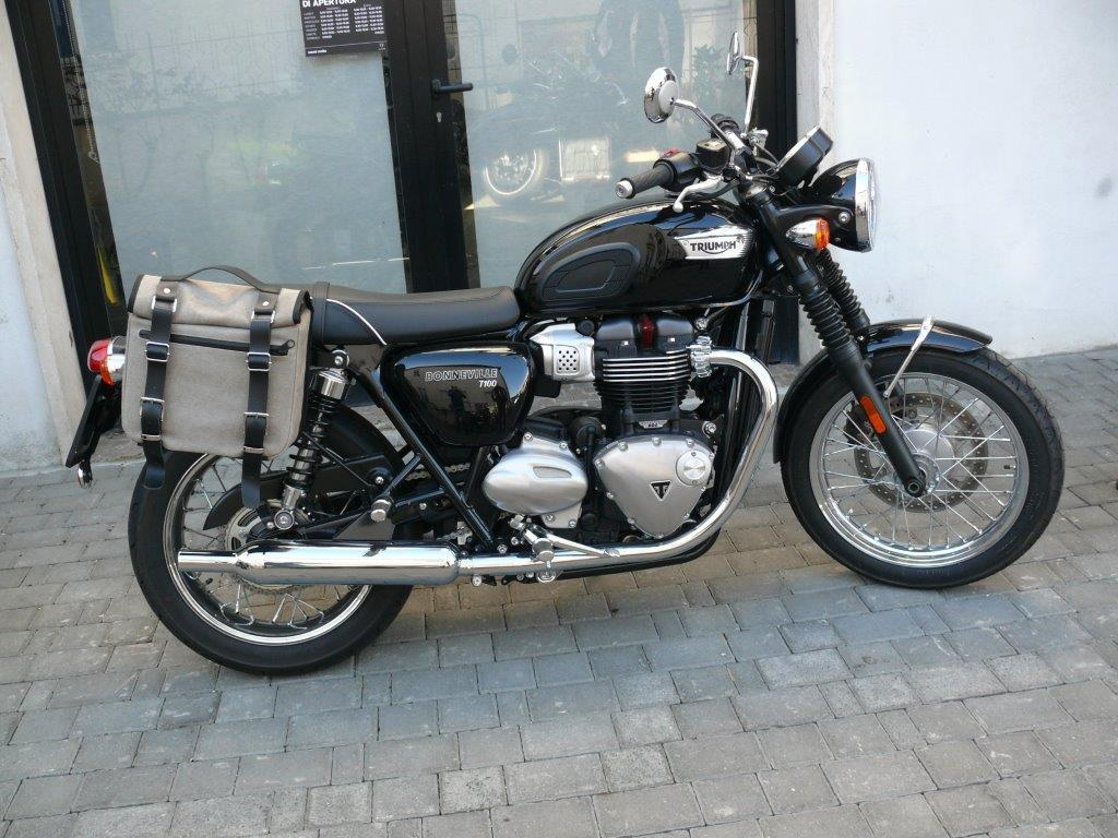Borse Canvas Tendenze : Pair of side bags model canvas for triumph t
